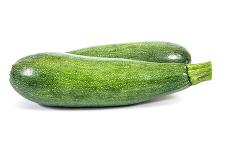 It is two of zucchini isolated on white background.Zucchini plant isolated Zdjęcie Seryjne