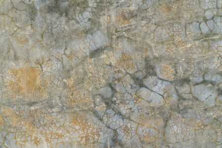 Rusty cracked smooth concrete wall texture background. Rust orange grunge concrete wall surface