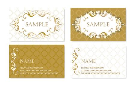 namecard: Gorgeous namecard with ornamentation Illustration
