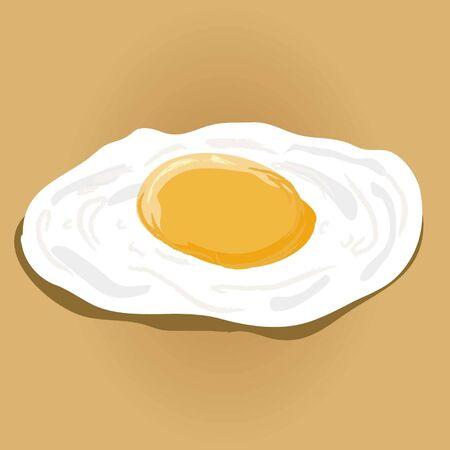 fired egg vector