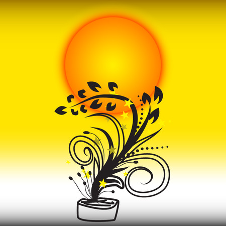 Sun flower: Blume Sonne
