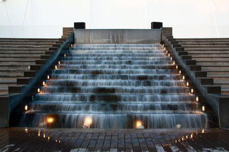 Escaliers de chute  Banque d'images