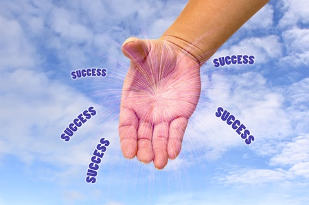 Success out of hand Stock Photo - 9652438