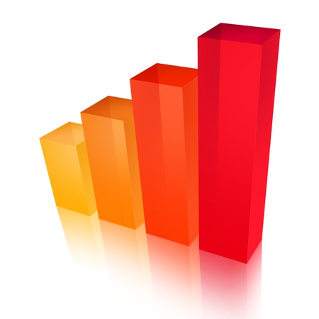 increases: business graph 3d