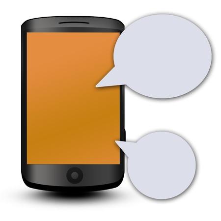 Téléphone portable sur fond blanc. 3d