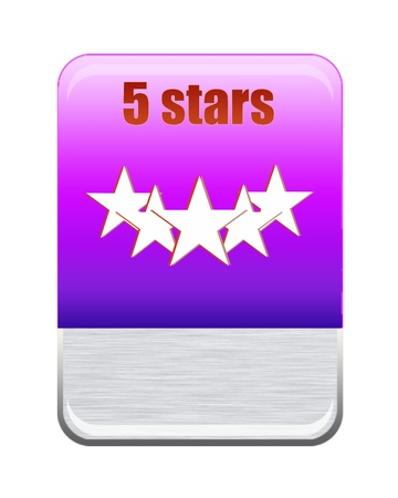 Five stars ratings Stock Photo - 9652598