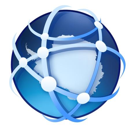 earth globe on white background photo