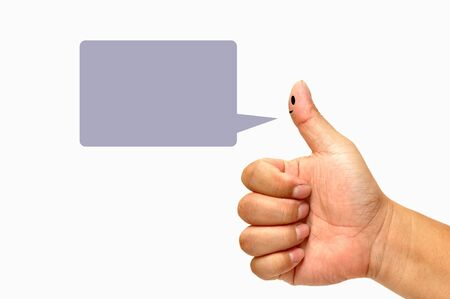 Finger smileys with speech bubbles Stock Photo - 9699261