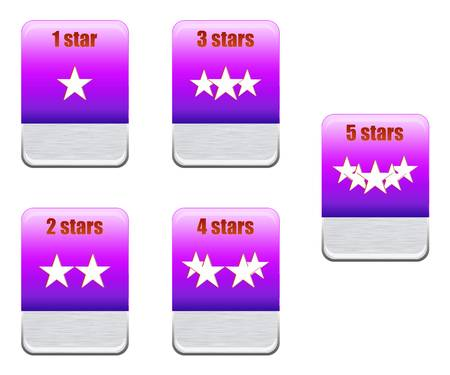 Five stars ratings Collection Stock Photo - 9699346