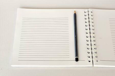 Blank NoteBook open Stock Photo - 9699524