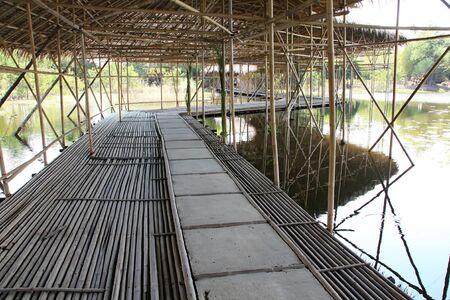 Old wooden bridge photo