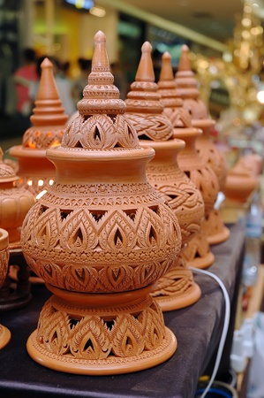 clay craft: Jar made of clay