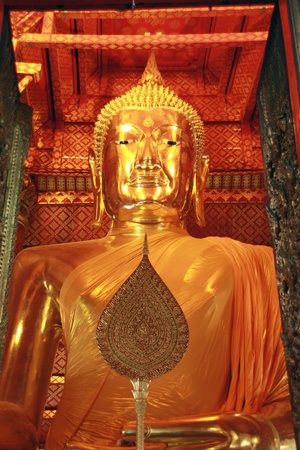 Buddha statue at temple photo