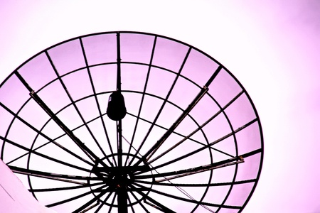 Satellite dish on the roof photo