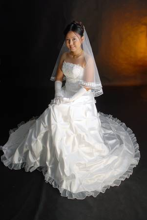 Thai women in wedding dresses  Stock Photo - 9845042