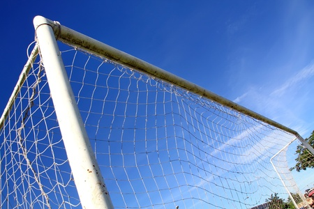Net soccer goal football Stock Photo - 9845074