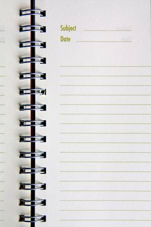 Blank NoteBook open photo