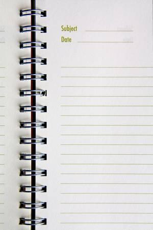 ring binders: Blank NoteBook open