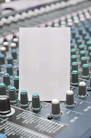 Paper blank with Sound mixer photo
