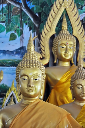 Buddha statue at temple in Thailand  photo