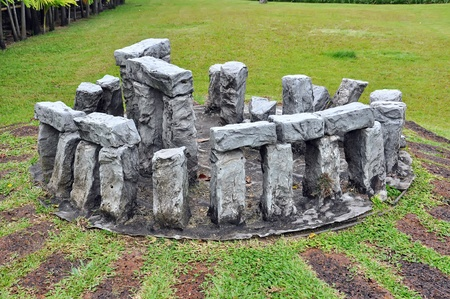 prehistoria: Stonehenge replica Foto de archivo