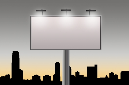 announce: Empty billboard in city