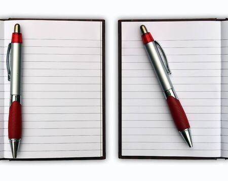 Blank NoteBook open Stock Photo - 9975276