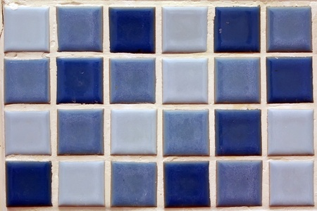 Pattern tiles in the bathroom Standard-Bild