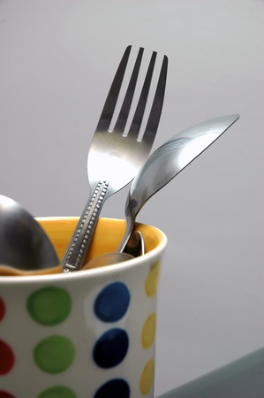 Spoon in a glass Stock Photo - 10016943