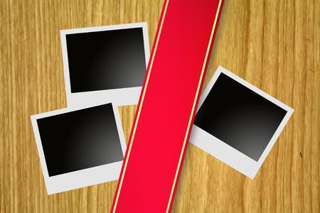 billboard and Polaroid photo