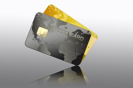 tarjeta visa: Tarjeta de crédito Foto de archivo