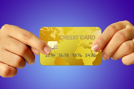 Credit card in human hand Stock Photo - 10092531
