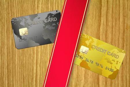 Credit card in billboard photo