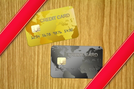 Credit card in billboard Stock Photo - 10092562