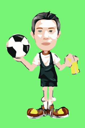soccer player with a ball photo