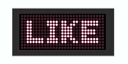 LED Display shows Text like Stock Photo - 10283697