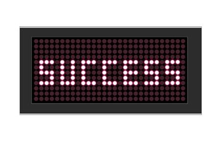 Affichage LED montre le succès du texte