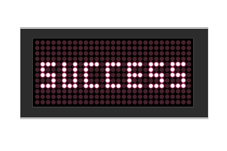 led display: LED Display shows Text success