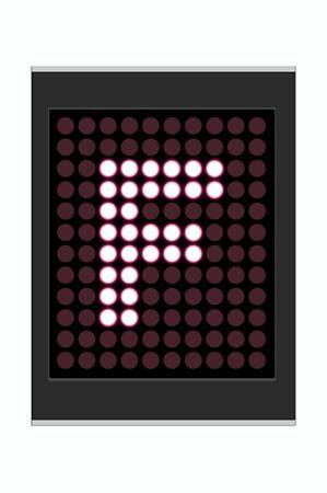 LED Display shows alphabet letter Stock Photo - 10283634