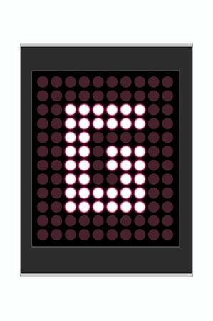 LED Display shows alphabet letter Stock Photo - 10283677