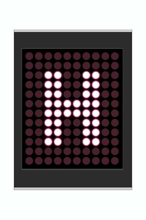 LED Display shows alphabet letter Stock Photo - 10283643