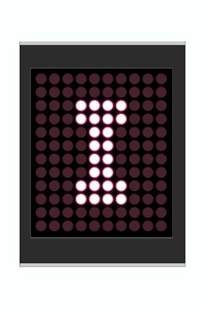 LED Display shows alphabet letter Stock Photo - 10283631