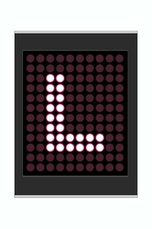 LED Display shows alphabet letter Stock Photo - 10283630