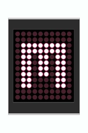 LED Display shows alphabet letter Stock Photo - 10283684
