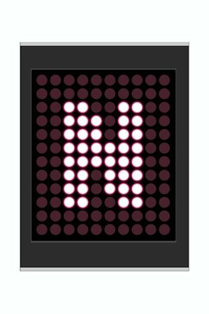 LED Display shows alphabet letter Stock Photo - 10283646