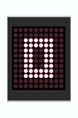 LED Display shows alphabet letter Stock Photo - 10283647