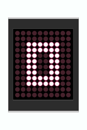 LED Display shows alphabet letter Stock Photo - 10283647