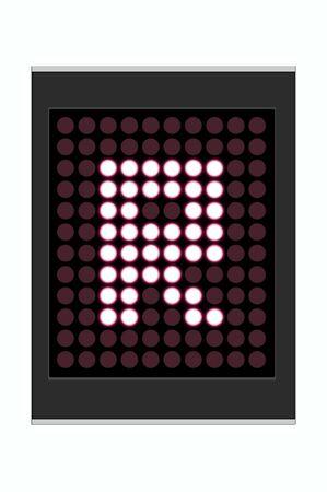 LED Display shows alphabet letter Stock Photo - 10283680