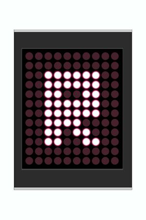 led display: LED Display shows alphabet letter
