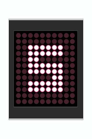 LED Display shows alphabet letter photo